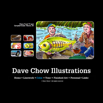 Dave Chow Illustrations Website