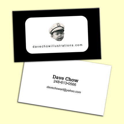 Dave Chow Illustrations Business Card Design